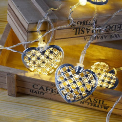 LED svetleća metalna srca 10L ( 52-561000 )
