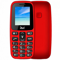 "Meanit Mobilni telefon, 1.77"" ekran, Dual SIM, BT, SOS dugme, Crveni"