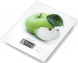 Medisana KS210 Digitalna staklena kuhinjska vaga - bela - print jabuka