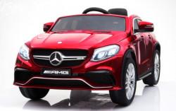 Mercedes GLE 63 AMG Licencirani Auto na akumulator sa kožnim sedištem i mekim gumama - Crveni