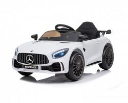 Mercedes GT AMG Licencirani sa kožnim sedištem i mekim gumama za decu model 267 beli