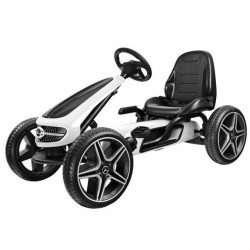 Mercedes Licencirani Karting - Formula na pedale sa mekim gumama - Bela