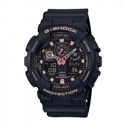 Muški G Shock Casio Multifunkcionalni Crni Roze Zlatni Sportski Analogno Digitalni Ručni Sat