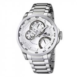 Muški Lotus Multifuncion Beli Sportski ručni sat sa metalnim kaišem i 24 koronom