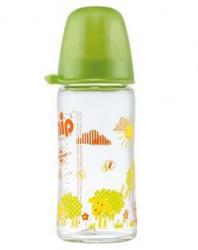 Nip staklena flašica sa širokom otvorom 0m+ 240ml zelena ( A001288 )