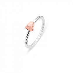 Paul Hewitt Anchor Rope Love Roze Zlatno Srce Prsten Od Hirutškog Čelika 54