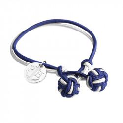 Paul Hewitt Knotbracelets Plavo Bela Čvor narukvica sa srebrnim priveskom XXL