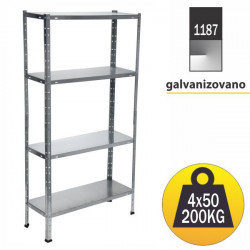Pixy Metalna polica 150x75x30cm 4x50kg ( 1187 )