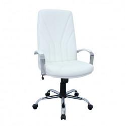 Radna fotelja - KliK 5500 CR CR LUX (prirodna koža) - Bela