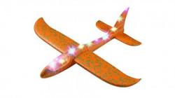 Toy plane 48cm Orange with light ( 036583 )