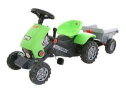 Traktor Turbo na pedale sa prikolicom - zeleni ( 17/52742 )