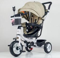 Tricikl Guralica Playtime 406-1 sa mekim sedištem - Bež