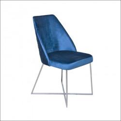 Trpezarijska stolica VIP Kraljevsko plava 470x500x920 mm ( 775-065 )