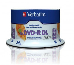 Verbatim 97693 Double Layer 8.5GB 8X DVD+R DL Full Printable ( 55YBP+/Z )