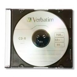 Verbatim CD-R 700MB 52X slim case 43787 u kutiji ( 771DLX/Z )