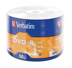 Verbatim DVD-R 4,7GB 16x Matt Silver 50kom Wrap 43788 ( 5516WR/Z )