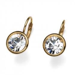 Ženske Oliver Weber Simple Gold Crystal Zlatnim mindjuše sa swarovski belim kristalom