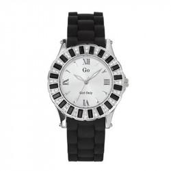 Ženski Girl Only Noir et Blanc Modni Crni ručni sat sa gumenim kaišem
