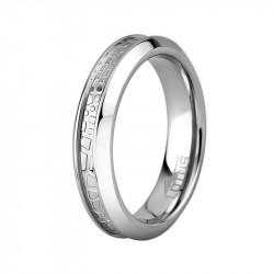Ženski Lotus Style Steel Rings Uži Staklo prsten od hirurškog čelika 52