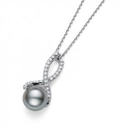 Ženski Oliver Weber Wait Crystal Grey Pearl Lančić sa sivim swarowski perla priveskom