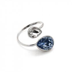 Ženski Victoria Cruz Essential Double Denim Blue Prsten Sa Swarovski Plavim Kristalom
