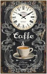 Zidni sat Crni Caffe 25x40cm ( 203277 )