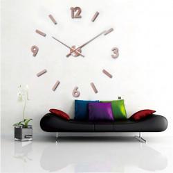 3D Zidni Sat samolepljivi - Bakarni ( T4325C )