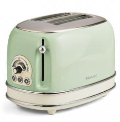 Ariete AR155GR vintage, toster, zeleni, za 2 parčeta, 810W
