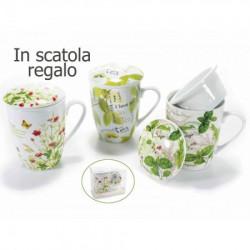 Art from Italy f72.03.41 poklon šolja sa infuzorom i polklopcem porcelan