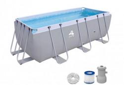 Avenli porodični bazen sa metalnim ramom i pumpom za vodu 400x200x99cm ( 26-371103 )