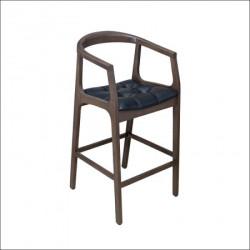 Barska stolica Mira Crna eko koža/Tamni orah 540x490x1020 mm ( 776-003 )