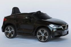 BMW 6 GT Licencirani Auto za decu na akumulator sa kožnim sedištem i mekim gumama - Crni ( BMW GT ) ( BJ 2164 )