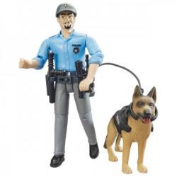 Bruder Figura policajac sa opremom i psom ( 621506 )