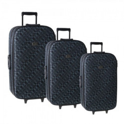 Cairo, kofer, set 3 komada, PE, Pattern black ( 100122 )