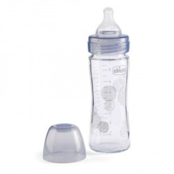 Chicco WB staklena flašica 240ml, silikon, siva ( A048497 )
