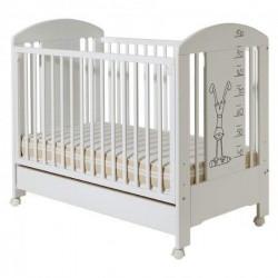 Dečiji krevetac - Lolek beli sa fiokom ( 086 )