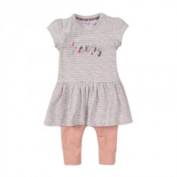 Dirkje komplet (haljina kratkih rukava, helanke), devojčice ( A047329-62 )