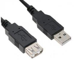 E-GREEN Kabl USB A - USB A MF (produžni) 1.8m crni