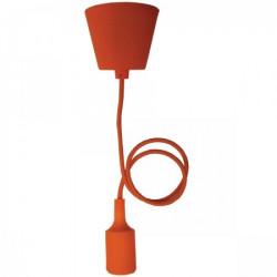 Elit+ silikonska luster visilica sa grlom e27 oranž ( EL9723 )