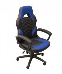 Gejmerska stolica 2326 od eko kože Plavo-Crna