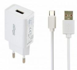 Gembird punjac za telefone i tablete 5V/2.1A USB Type-C USB kabl 1M beli ( EG-UCSET-C-MX )