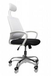 Kancelarijska stolica FA-671 od mesh platna Crno-bela