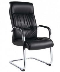 Konferencijska stolica B16 od eko kože - Crna