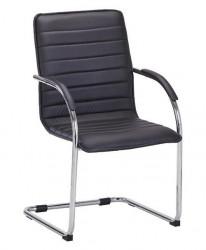 Konferencijska stolica B46 od eko kože - Crna
