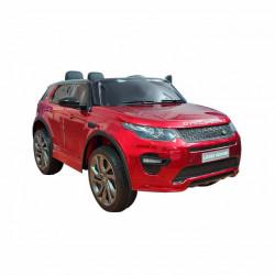 Land Rover Discovery 239/1 Licencirani džip sa kožnim sedištem i mekim gumama - Metalik Crveni