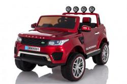 Land Rover Happer 4x4 - Dvosed Auto na akumulator sa kožnim sedištem i mekim gumama - Crveni