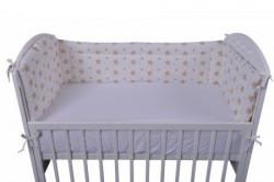 """Lillo&Pippo,ogradica za krevetac,""""Zvezdice"""",3401-BT,bež,60x120x60CM ( 7080198 )"""