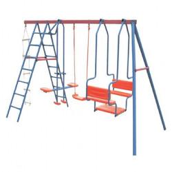 Ljuljaska za dvorište - metalna konstrukcija 360x160x176cm do 180kg