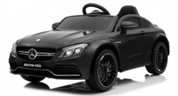 Mercedes AMG GT-R model 265 Licencirani Auto za decu sa kožnim sedištem i mekim gumama - Crni