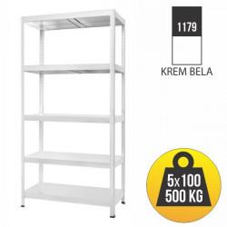 Metalna polica BILOXXI 180X100X40 - nosivost 5x100kg ( 46948 ) (1179 )